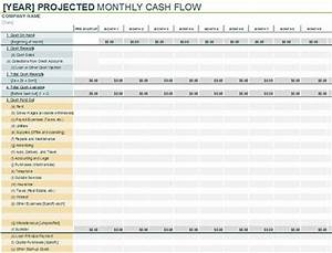 3 free cash flow projection excel templates With quarterly cash flow projection template excel