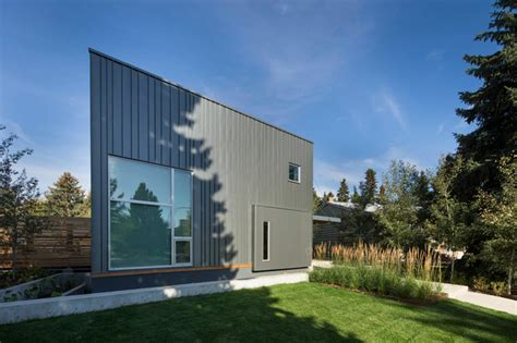 trapezoid house contemporary exterior edmonton