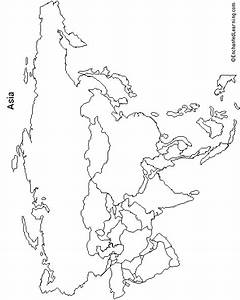 Blank Map Of Asia Enchanted Learning
