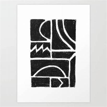 Prints Society6 Charcoal Shape Help Milk Vivier
