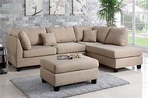 sand beige fabric sectional sofa and ottoman set lowest With barcelona sectional sofa ottoman in beige