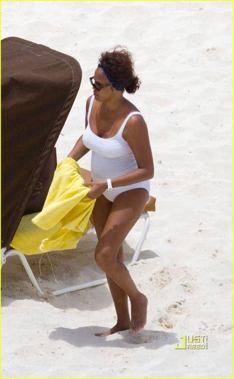 whitney houston beach   bathing suit photo