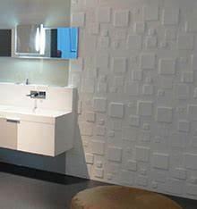 revetement mural moderne cool mod les sims dco revtement With carrelage adhesif salle de bain avec led blanche cms