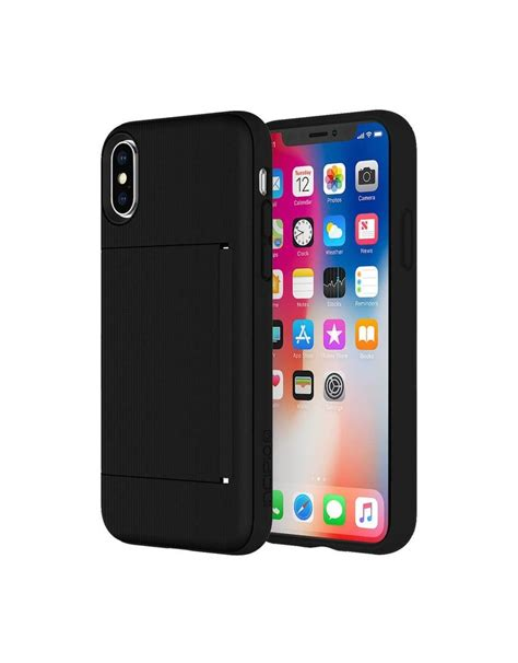 7 best iphone se case with credit card holder in 2021: Incipio INCIPIO STOWAWAY CREDIT CARD CASE WITH INTEGRATED STAND FOR IPHONE X/Xs - BLACK - Gadget ...