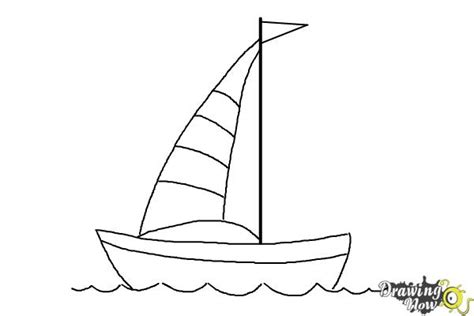 How To Draw A Boat Easy by How To Draw A Simple Boat Drawingnow