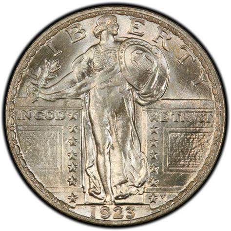 liberty quarter 1923 standing liberty quarter values and prices past sales coinvalues com
