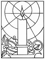 Coloring Candle Christmas Pages Crayola Glass Printable Stained Advent Colouring Paper Decoration Nativity sketch template