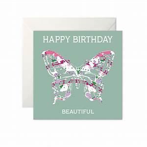 Butterfly Birthday Card 'Happy Birthday Beautiful'