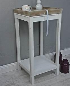 Beistelltisch Weiß Landhaus : beistelltisch braun wei hoch m bel beistelltisch wei ~ Watch28wear.com Haus und Dekorationen