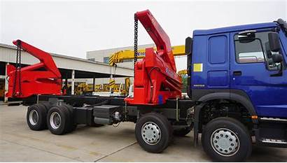 Container Trailer Side Loader 40ft Truck Loading