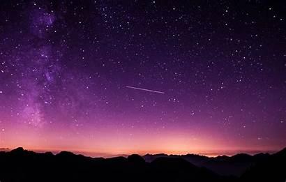 Star Gazing Sky Dusk Purple