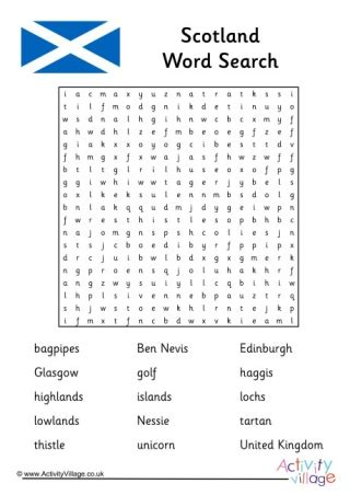 saint andrew word search