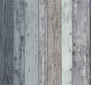vliestapete holz bretter vintage blau grau ps 02361 10 With balkon teppich mit retro tapete türkis
