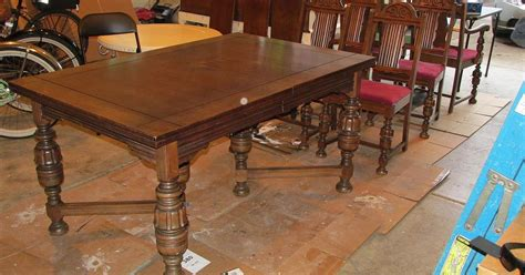 antique dining room table and chairs for diy 1920 s vintage table chairs redo hometalk 9881