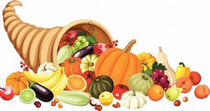 Thanksgiving Cornucopia Clipart Autumn Fruits Vegetables Clip