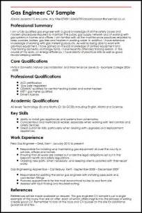 Gas Engineer CV Sample