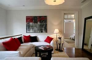 16 black red living room design ideas decoration ideas for Black and red living room decor