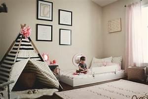Lit Au Sol Pour Bébé : id es de d co chambre adulte et b b ~ Dallasstarsshop.com Idées de Décoration