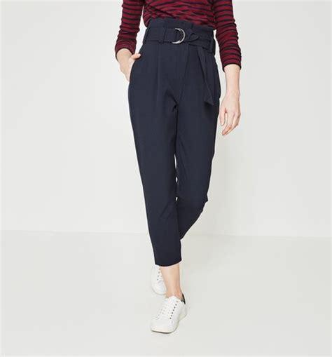 pantalon de cuisine femme pantalon taille haute femme marine pantalons femme promod