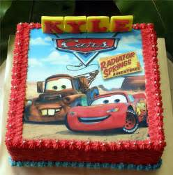 lightning mcqueen cake with printed edible picture flickr