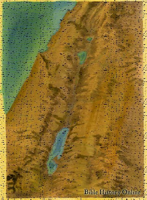 bible history  topographical map  israel