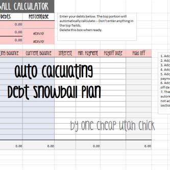 create  debt snowball plan snowball excel
