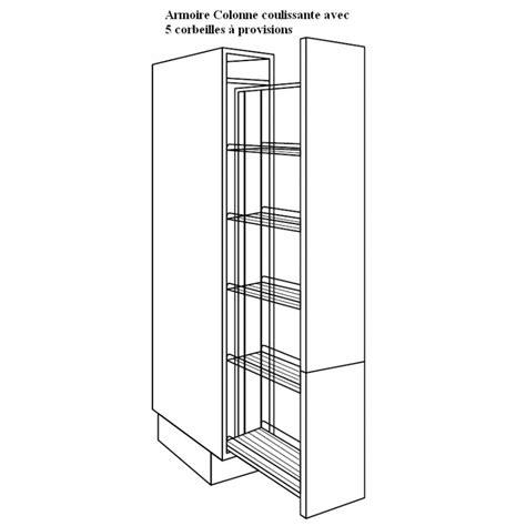 armoire colonne cuisine armoire colonne avec corbeilles paniers