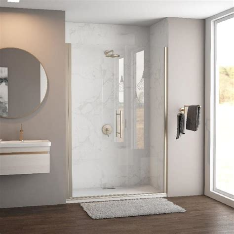 Shop Coastal Shower Doors Illusion Series 57.75 in to 59