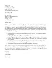 Store Manager Cover Letter Exles Retail Management Cover Letter Sle