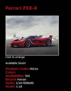 Ferrari Fxx K Prix : ferrari modelisme ferrari 1 18 mr models pr vision 2015 la ferrari fxx k rosso corsa n ~ Medecine-chirurgie-esthetiques.com Avis de Voitures