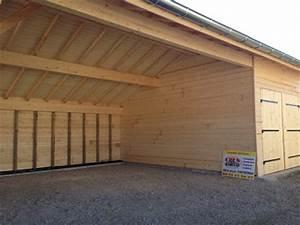 Garage Reprise Voiture : abris jardin partie ouverte et garage ferm en ossature bois abri voiture pergola pool house ~ Gottalentnigeria.com Avis de Voitures