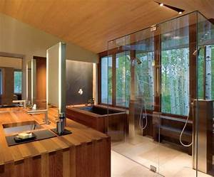 18 idees de salles de bains japonaises elegantes With salle de bain design avec feng shui décoration