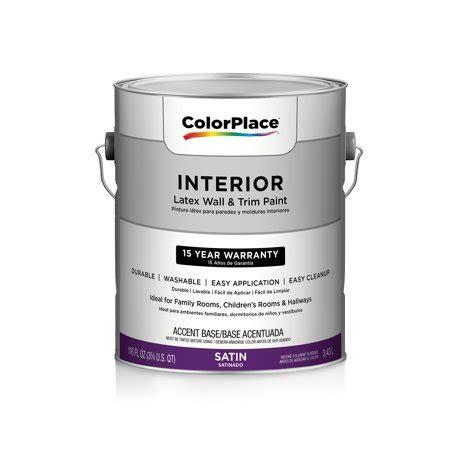 colorplace interior satin paint accent base walmart com
