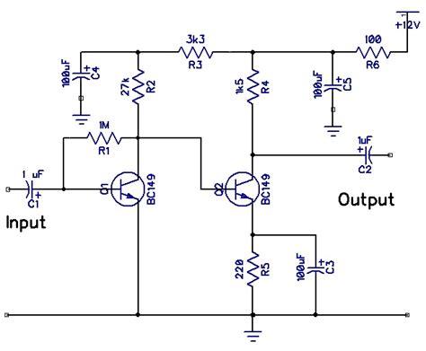 rangkaian pre mic skema rangkaian elektronika
