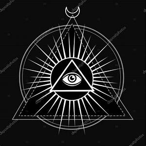Eye Of Providence  All Seeing Eye Inside Triangle Pyramid  Esoteric Symbol  Sacred Geometry