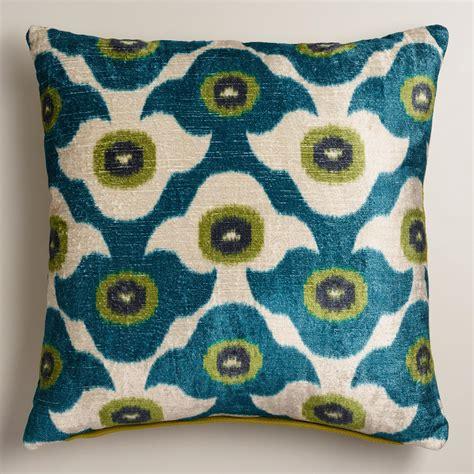 unique throw pillows cool blue taza throw pillow world market