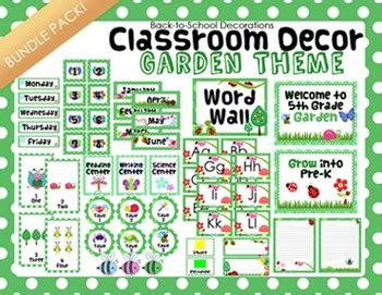 garden themed classroom decor bundle pack  teaching