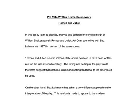 romeo and juliet play script modern discuss analyse and compare the original script of william shakespeare s romeo and juliet act