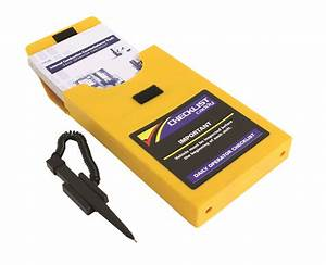 forklift inspection checklist book the checklist caddy With forklift document holder