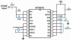 mt8870 dtmf decoder electronicwings With dtmf decoder