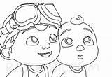 Cocomelon Raskrasil sketch template