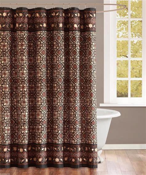echo quot sambuca quot licorice fabric shower curtain abstract