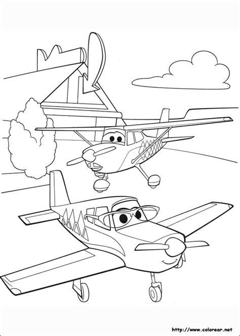 dibujos  colorear de aviones equipo de rescate