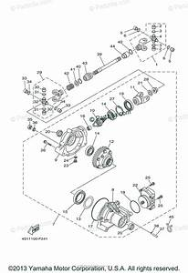 Yamaha Atv 2010 Oem Parts Diagram For Front Differential