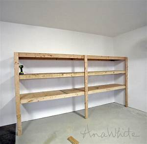 easy and fast diy garage or basement shelving for tote With how to make garage shelves