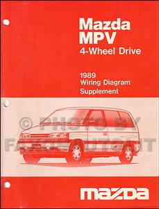 1989 Mazda Mpv Repair Shop Manual Original