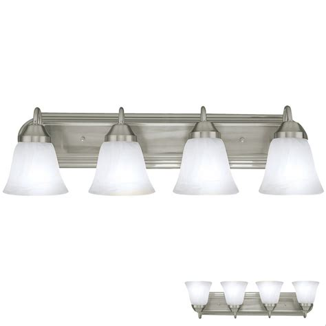 brushed nickel  globe bathroom vanity light bar bath