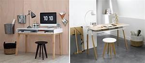 Bureau Design Bois Et Blanc Mobilier Entreprise Design