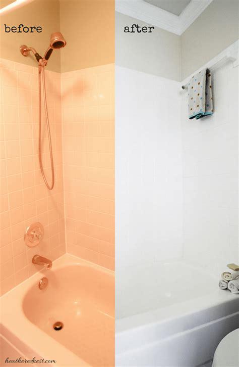 paint tile   brightened  bathtub