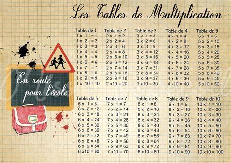 table multiplication imprimer format a4
